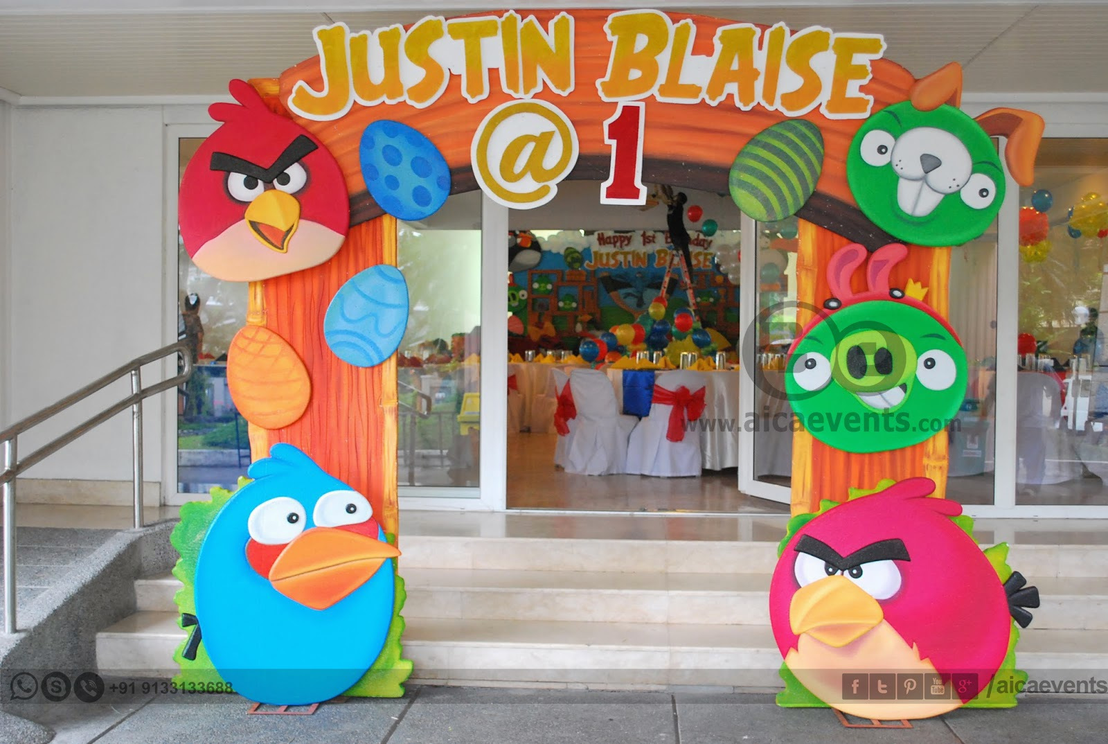 Aicaevents india angry bird theme decors for birthday parties for Angry bird birthday decoration ideas
