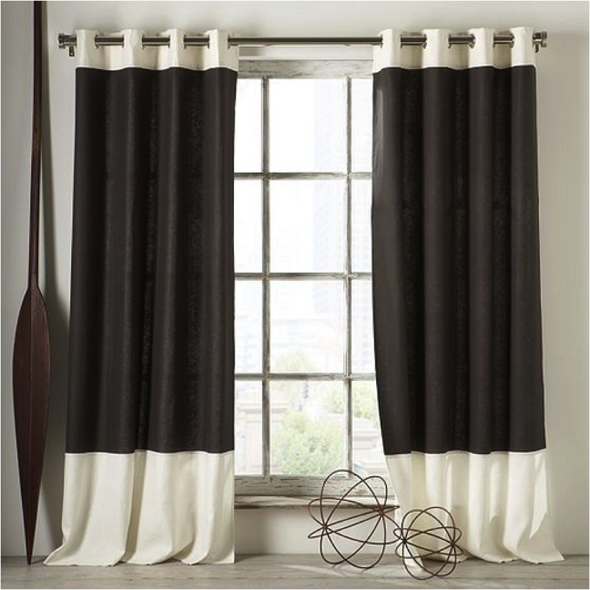 Let 39 s decorate online for Black and white curtain designs