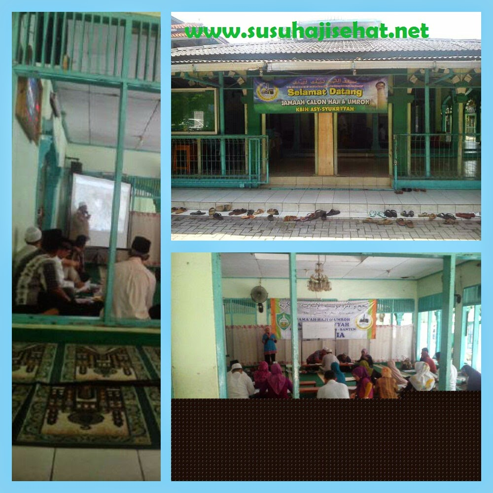 Edukasi kesehatan kepada calon jama'ah Haji KBIH Asy Syukriyyah bersama Gema Hati dan Susu Haji Sehat
