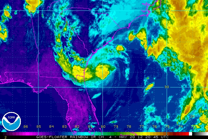 The original weather blog latest update on tropical storm alberto