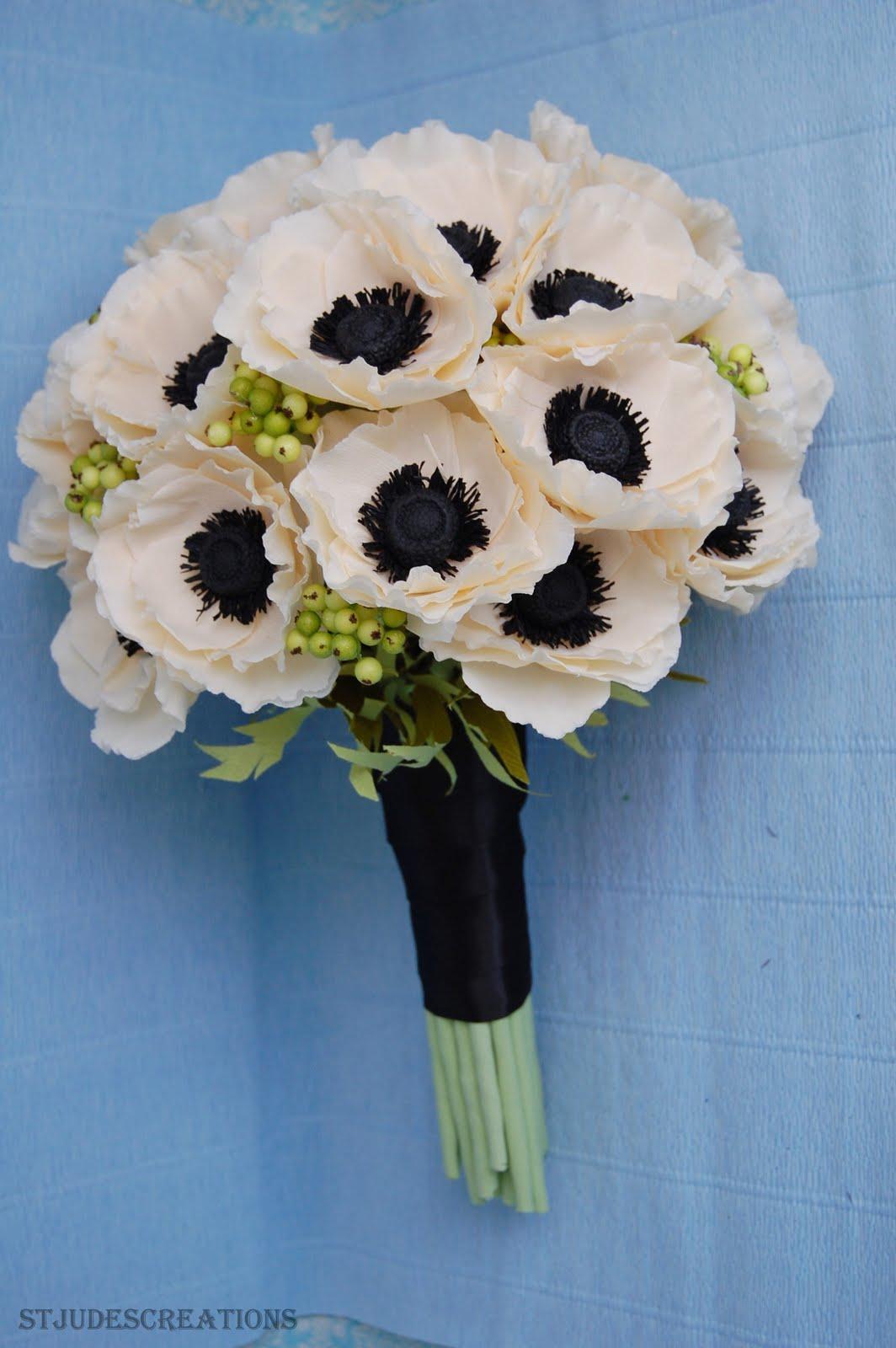 Anemone wedding bouquet paper flower bouquet handmade paper anemone wedding bouquet paper flower bouquet izmirmasajfo