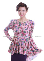 NBPEPLUM0033 FLOWERY TUCCIDO TAIL PEPLUM