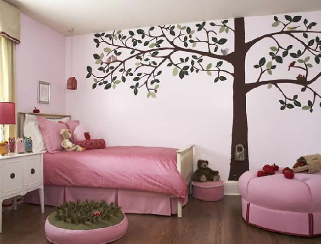Girls' Bedroom Wall Paint Ideas