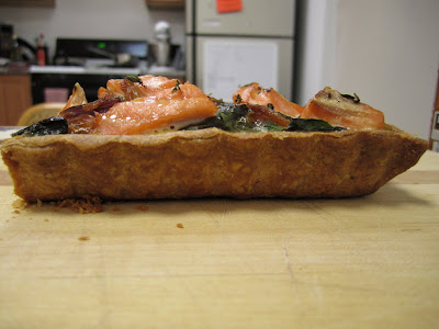 ... the simple filling of onion, swiss chard and salmon was irresistible