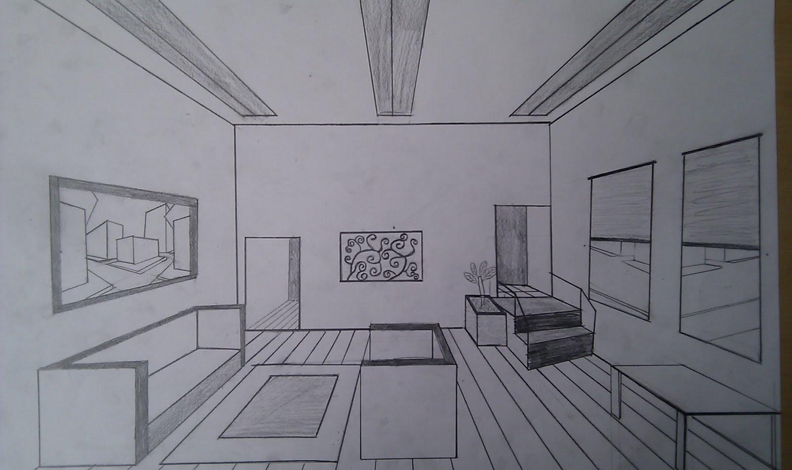 kunstenmakers vmbo 3 een interieur tekenen met 1