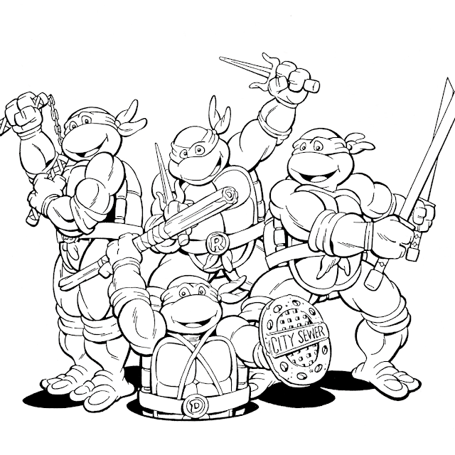 free ninja turtle michelangelo coloring pages
