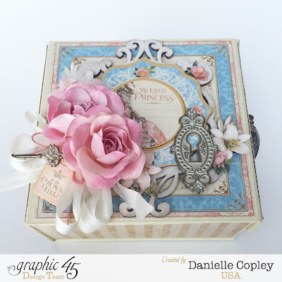Boxed mini album using Gilded Lily by Graphic 45 scrapbookmaven.com