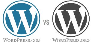 pilih wordpress.com atau wordpress.org