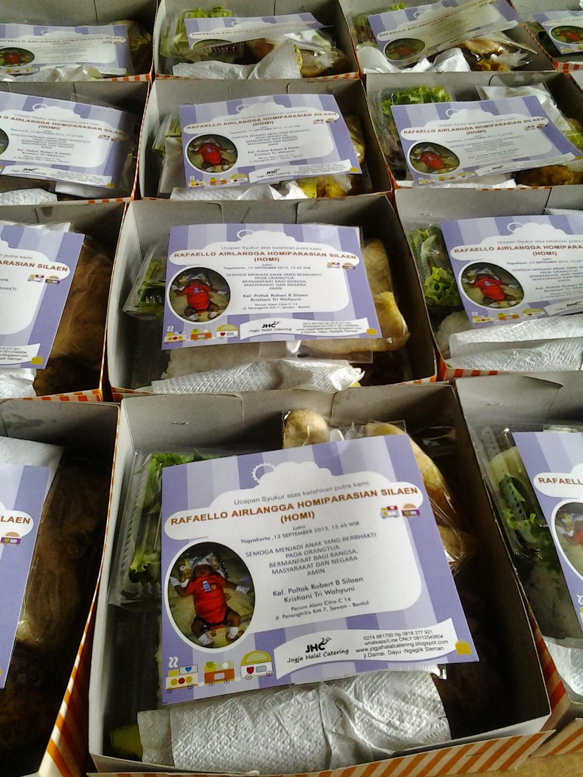 Nasi box tasyakuran kelahiran baby Bp.robert & ibu kriztin