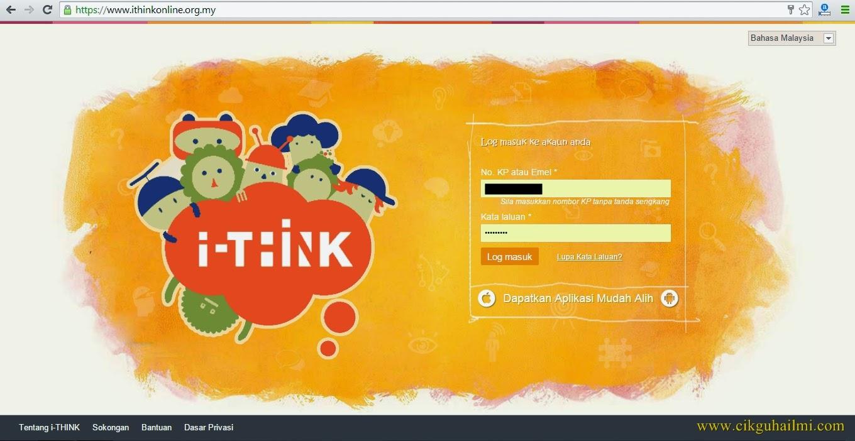 Muka depan Modul Online iThink