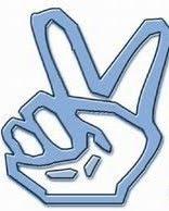 Con los 2 dedos en V