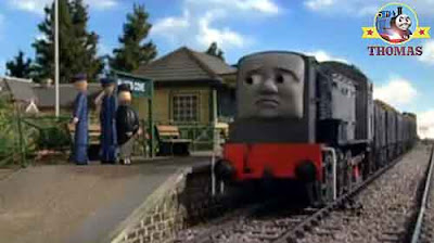 Finally pulled in the Sodor old school house station stop diesel Dennis and Thomas the train day off