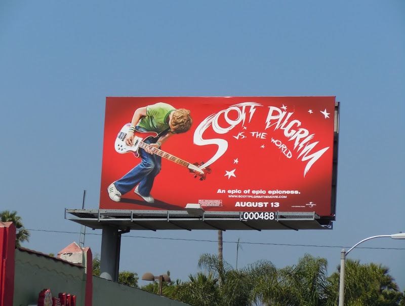 Scott Pilgrim movie billboard