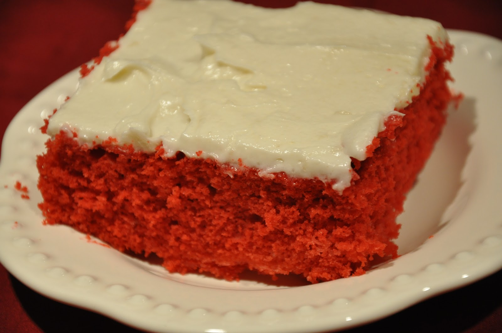 10. Red Velvet Sheet Cake With That's the Best Frosting I've Ever Had!