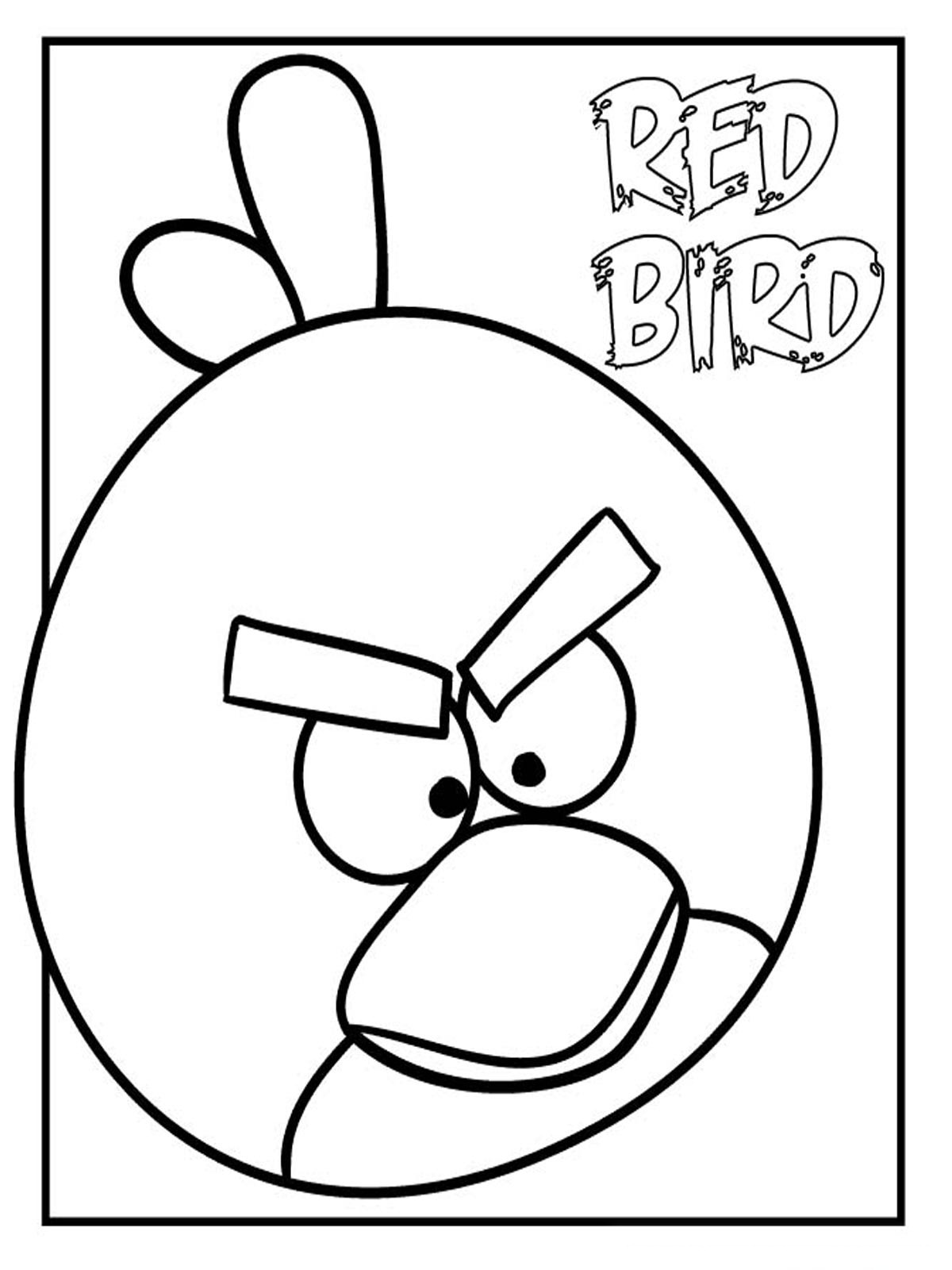 Angry Birds Colouring Pages that