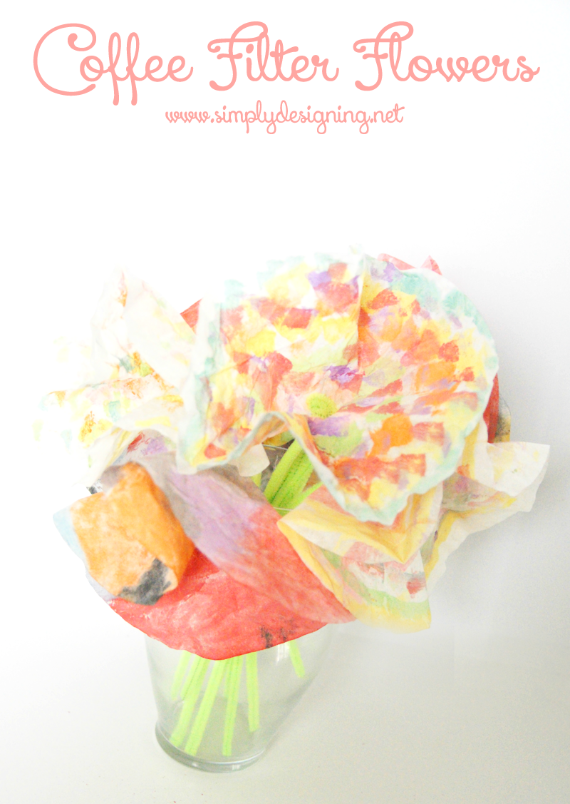 Coffee filter flower bouquet coffee filter flower bouquet a really fun kid craft using supplies you may already have izmirmasajfo