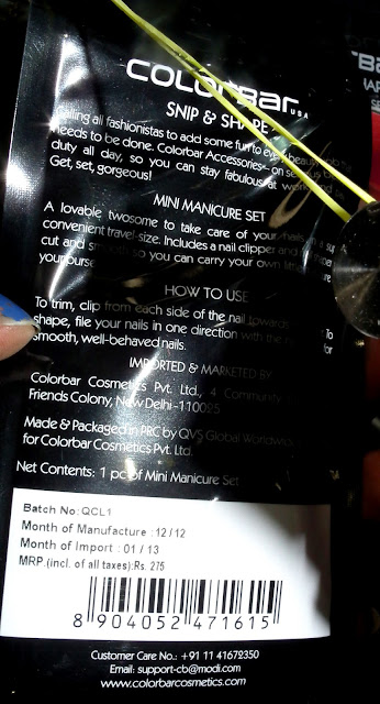 Price of COLORBAR Mini Manicure Brush
