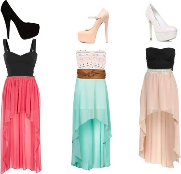 Matching sandals and dress style for ladies