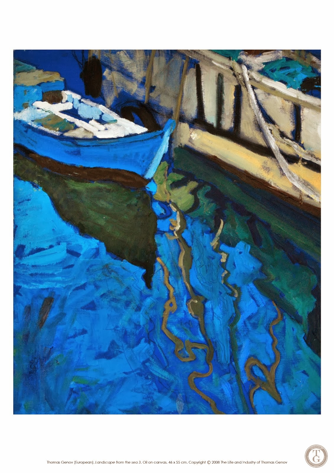 La Mer II, Oil on canvas, 46X55 cm, Planner in Nesebar, 2003