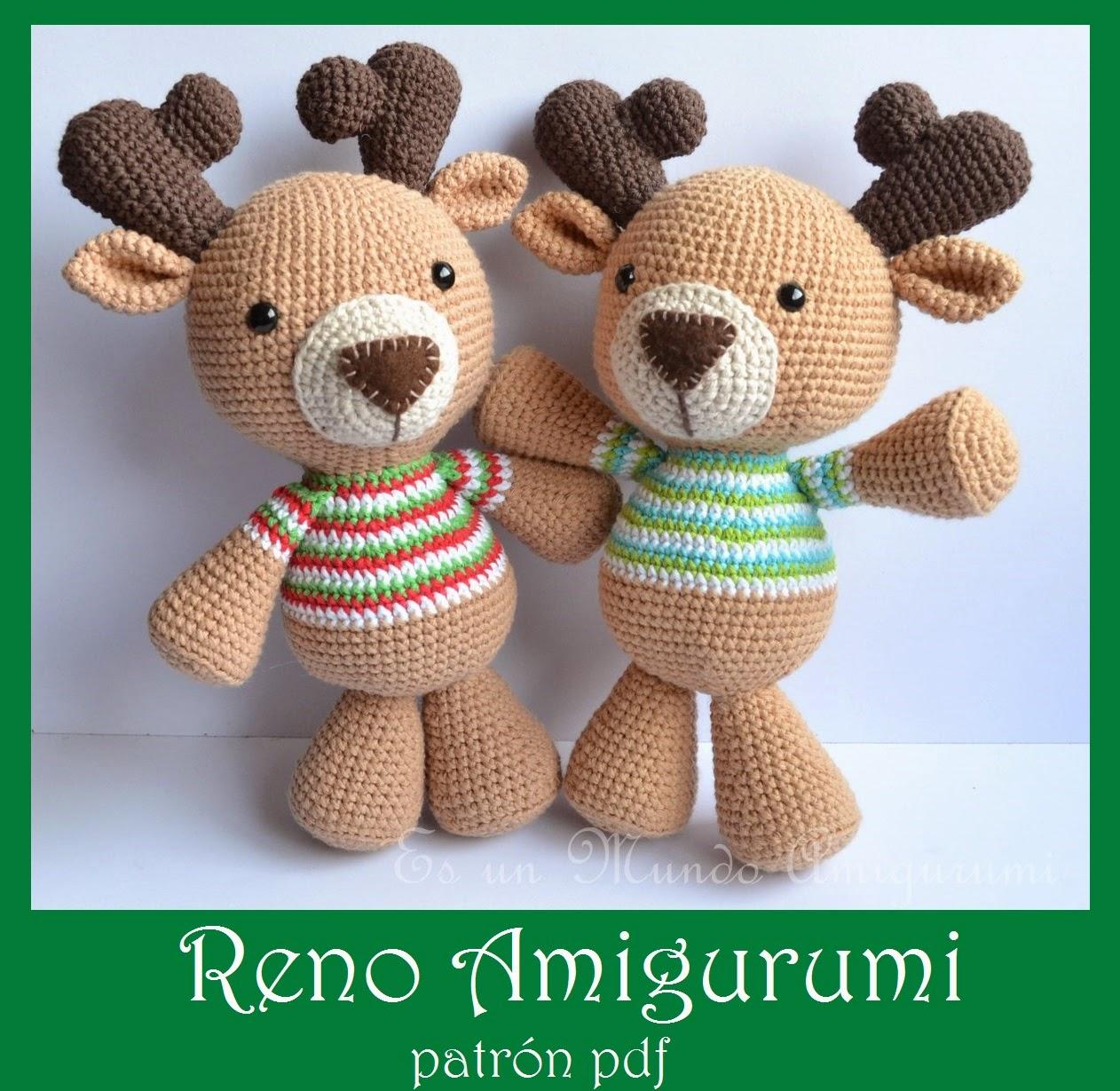 Es un Mundo Amigurumi: Patron Reno ya a la venta!!!