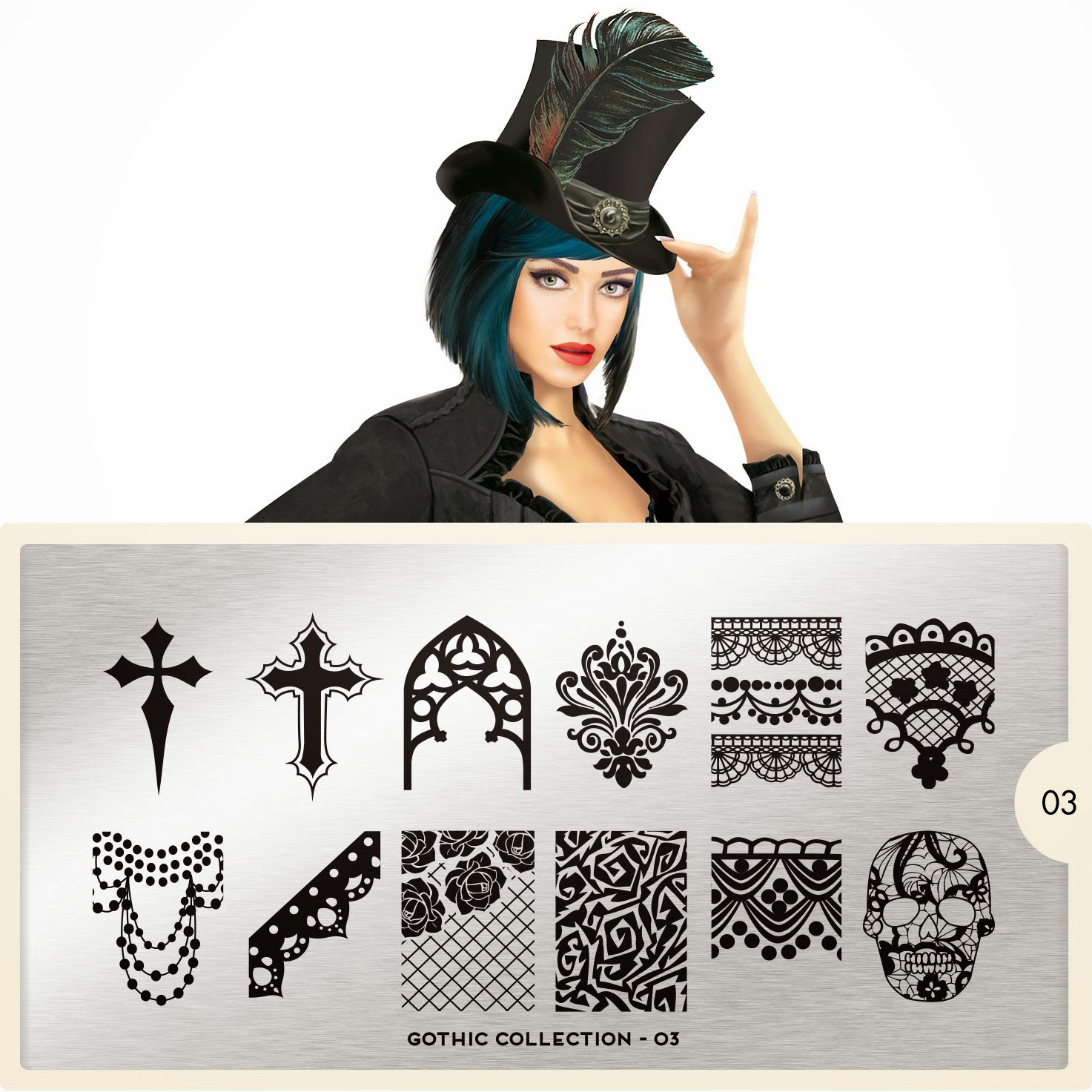 Lacquer Lockdwon - MoYou London, MoYou London Gothic COllection, new stamping plates 2014, new nail art stamping plates 2014, nail art stamping, nail art stamping blog, halloween nail art, halloween nails, diy nail art, cute halloween nail art ideas, nail art ideas, stamping
