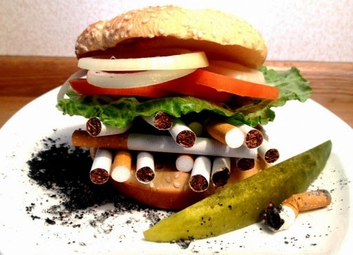Cheeseburgers As Bad For You As Cigarettes