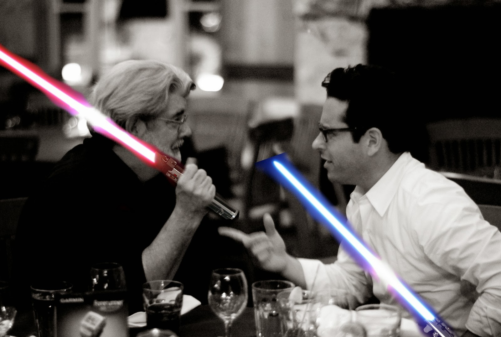 Star Wars george lucas jj abrams lightsabers
