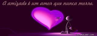 capas para o Facebook frase de amor e amizade