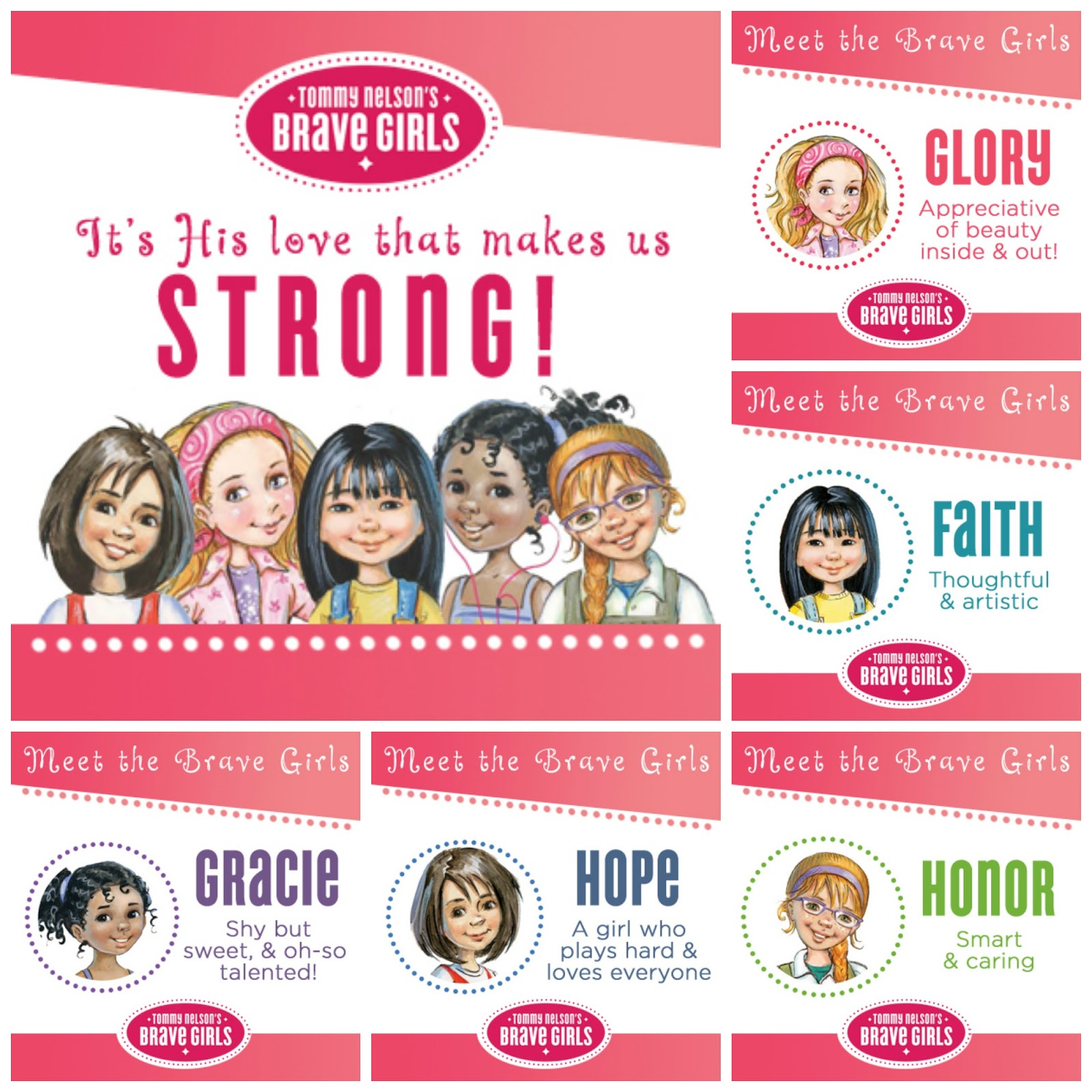Meet the #tommymommy #bravegirls!  Learning to be #brave in #Jesus