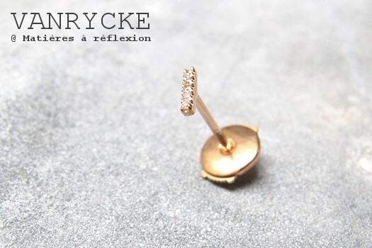 Vanrycke Paris boucle d'oreille or