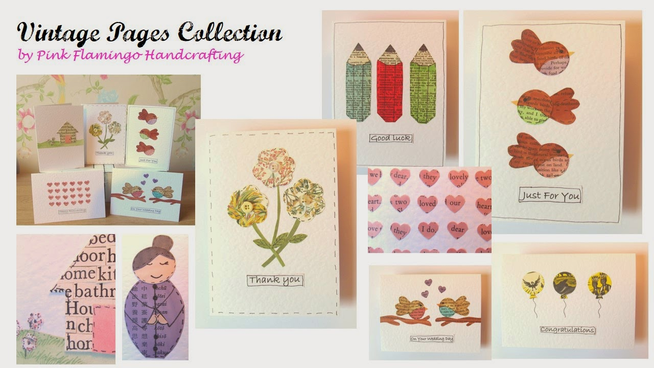 Vintage pages collection by Pink Flamingo Handcrafting
