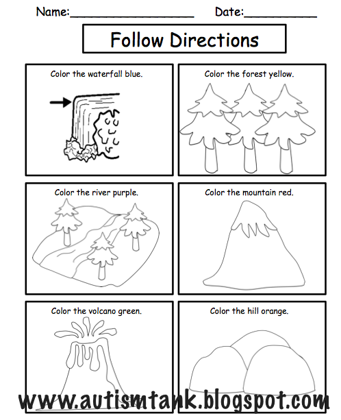 Landforms Worksheets Product preview: landforms