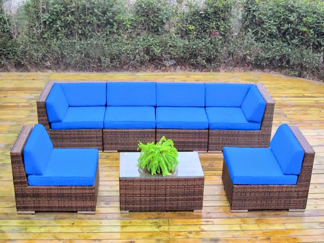 sale of 50 genuine ohana outdoor patio sofa sectional wicker furniture mixed brown 7pc couch. Black Bedroom Furniture Sets. Home Design Ideas