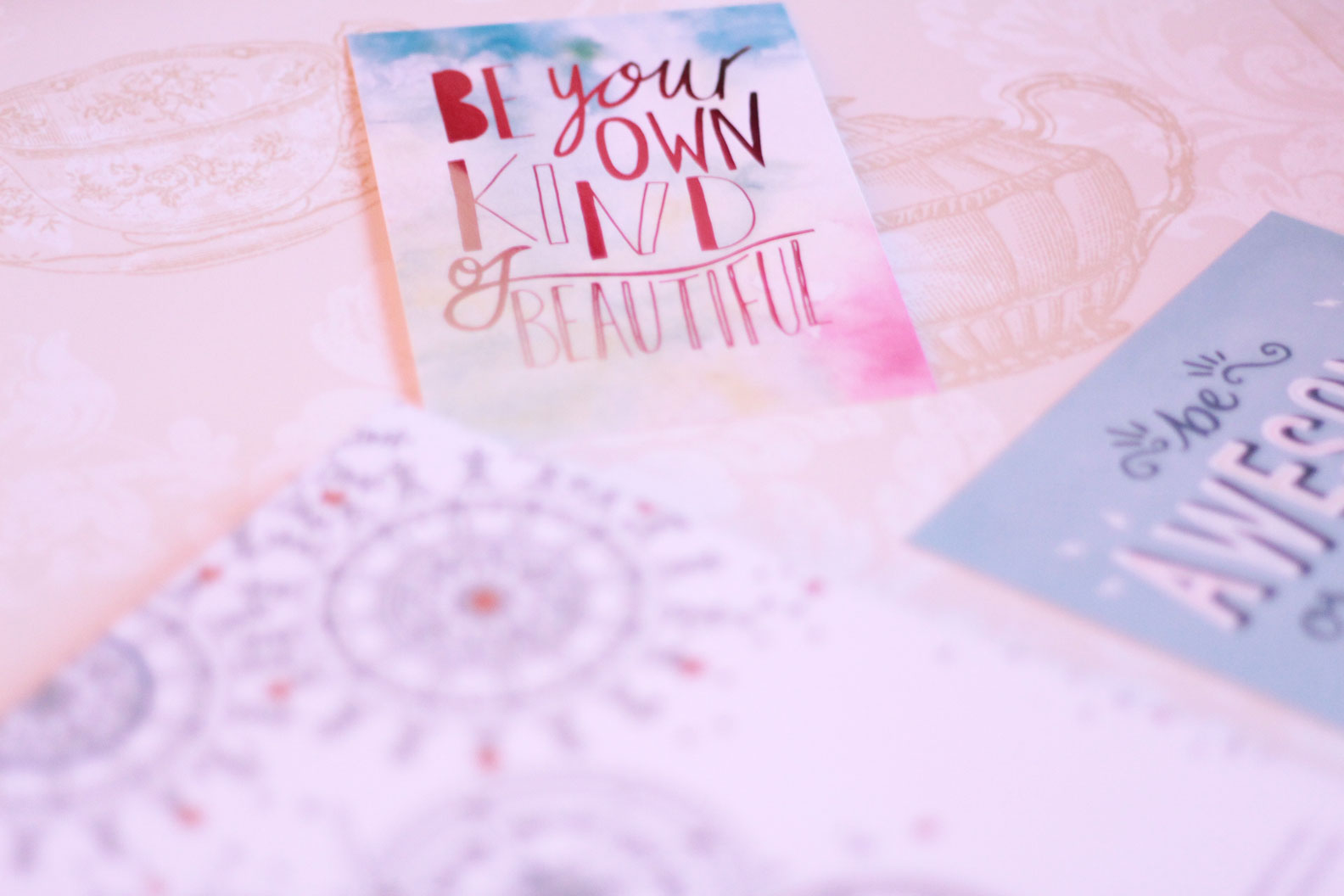 paperchase motivational postcards
