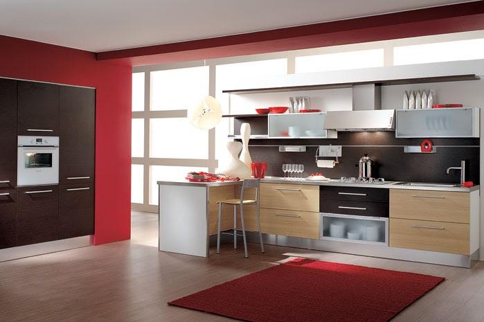 desain interior dapur bergaya model ala italia rumah