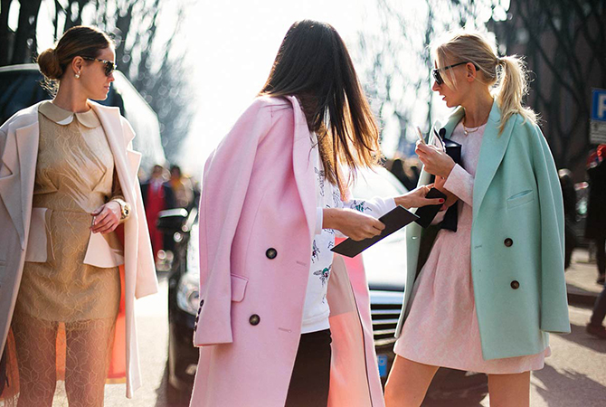 Fashion Attacks inspiration pastel coats