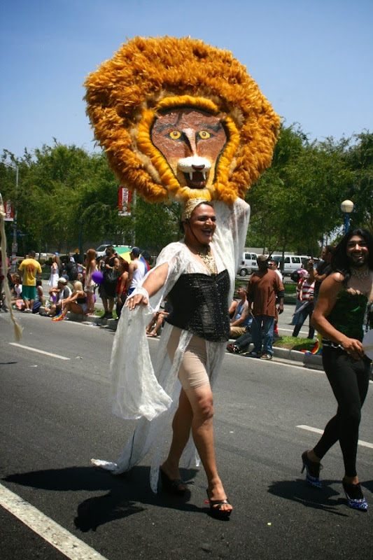 Lion Queen drag West Hollywood Pride Parade 2014