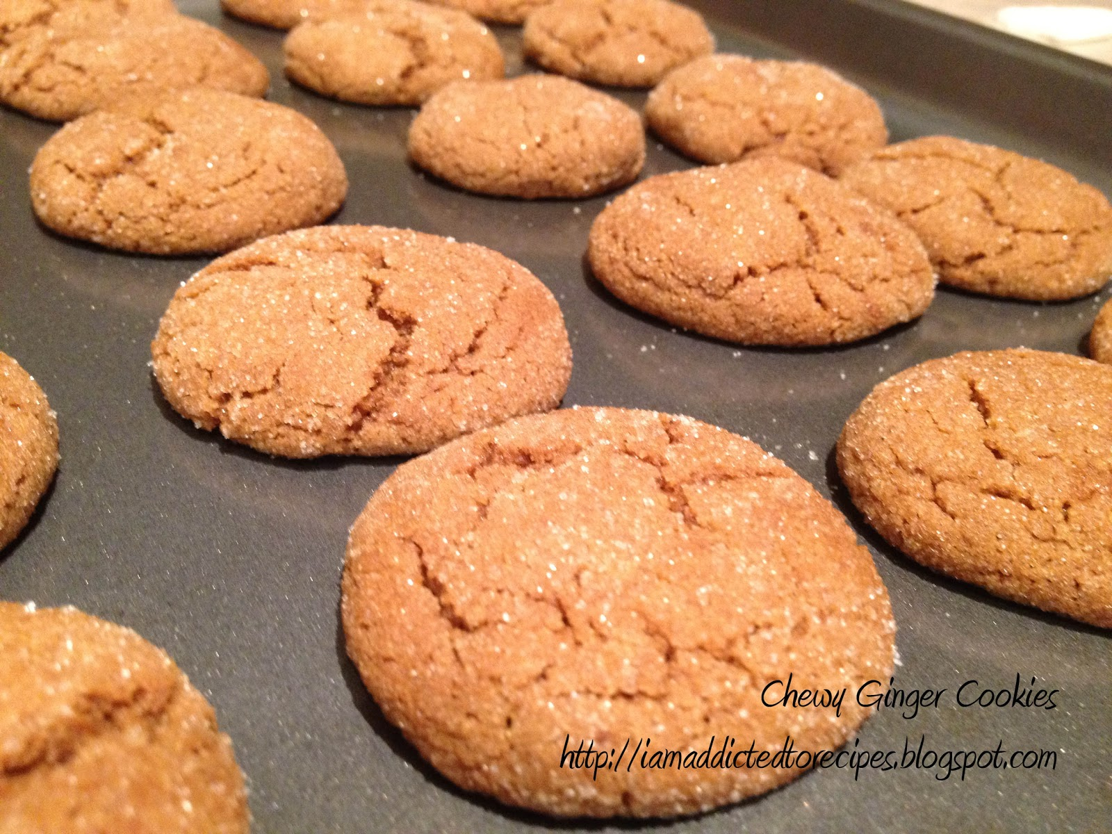 Chewy Ginger Cookies Recipe — Dishmaps