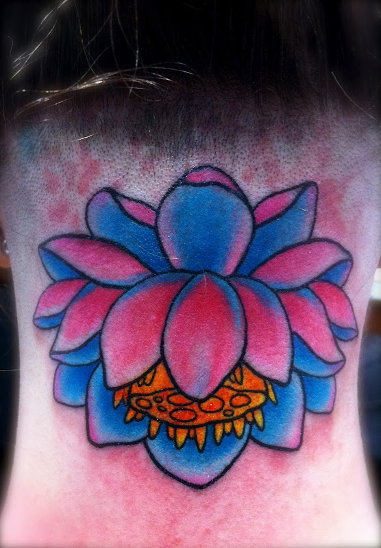 Lotus on the back of Head/ neck. Thanks Darci! title=