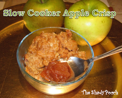 Slow Cooker Apple Crisp by The Shady Porch #recipe #apples #slowcooker