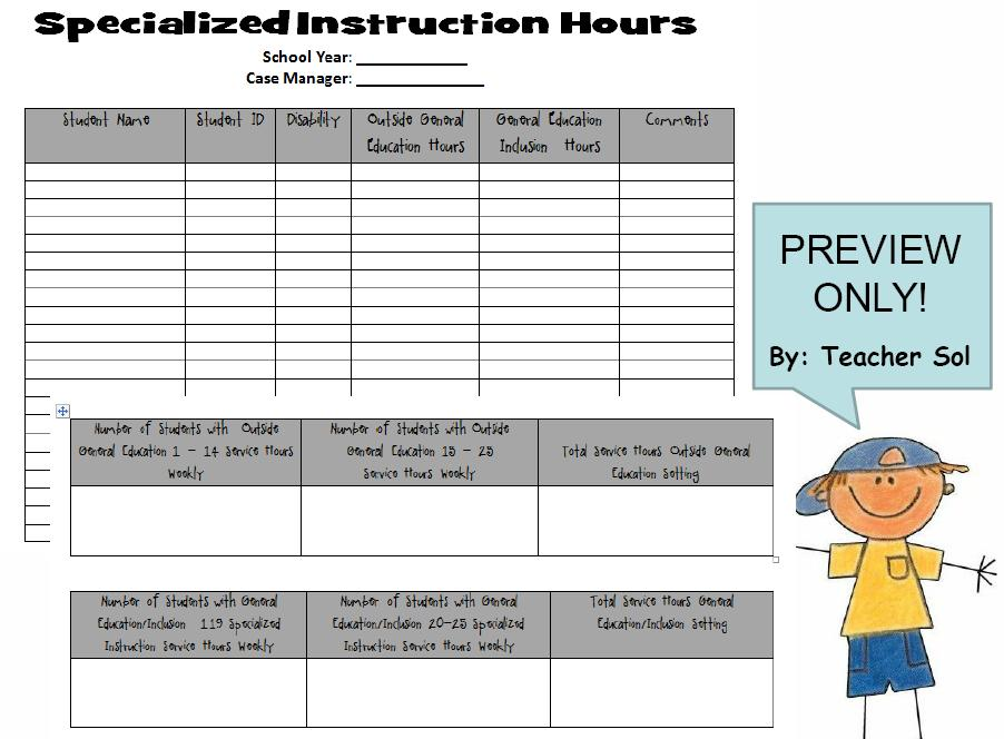 Funshine 5 Free Special Education Charts