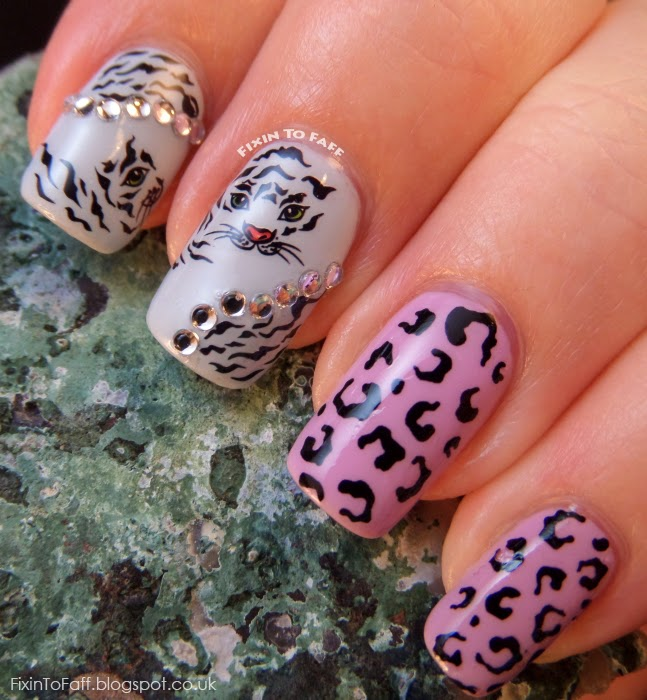 Big Cats leopard tiger water decal nail art born pretty store