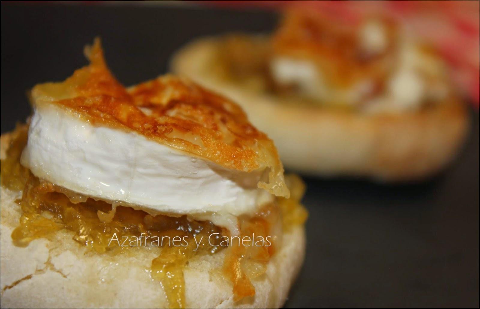 Montadito de queso de cabra con cebolla caramelizada - Queso de cabra y colesterol ...