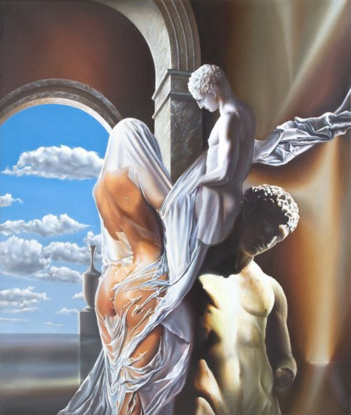 Victor Hagea 1948 | Romanian Surrealist painter | Life is a dream