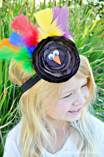 fancy turkey headband