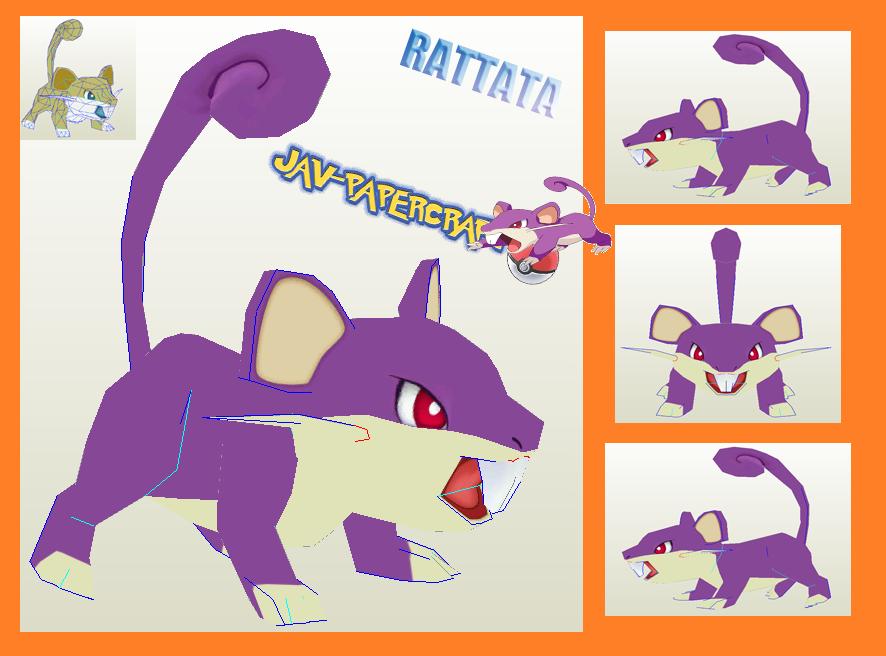 Rattata Paper Model