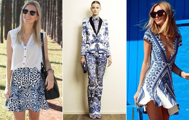 Moda verão 2014 estampa azulejo português