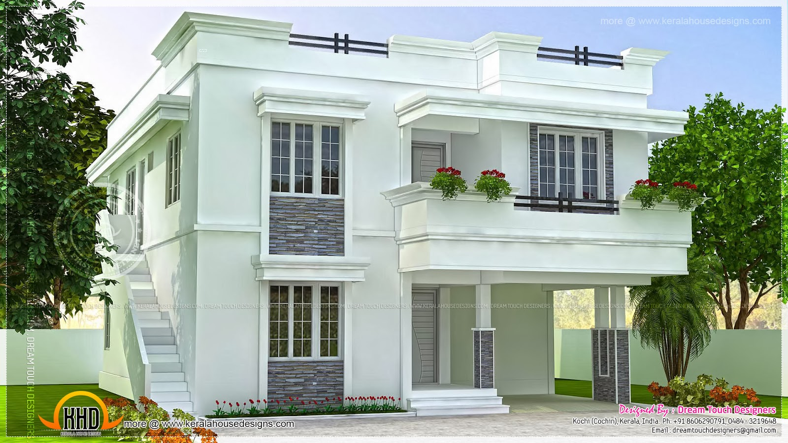 Modern beautiful home design indian house plans for Beautiful modern homes
