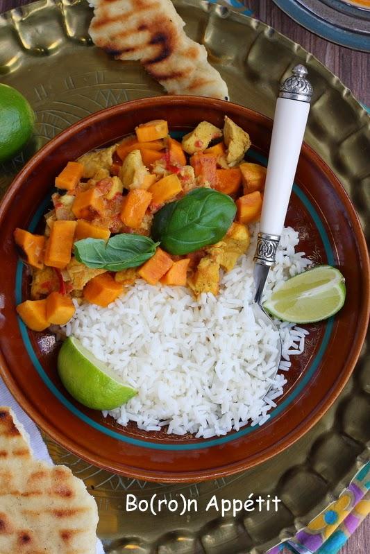 Curry z kurczakiem z batatami
