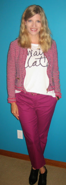 http://vvboutiquestyle.blogspot.ca/2014/09/hot-pink-pantsalways-late.html